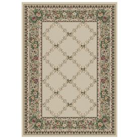 Orian Rugs Kennedy Cream Rectangular Indoor Woven Area Rug (Common: 8 x 11; Actual: 94-in W x 130-in L)