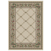 Orian Rugs Inspiration 94-in x 130-in Rectangular Cream/Beige/Almond Floral Area Rug