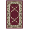 Orian Rugs Inspiration 23-in x 39-in Rectangular Red/Pink Floral Accent Rug