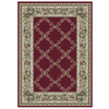 Orian Rugs Inspiration 94-in x 130-in Rectangular Red/Pink Floral Area Rug