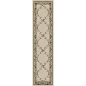 Orian Rugs Kennedy Cream Rectangular Indoor Woven Runner (Common: 2 x 8; Actual: 23-in W x 89-in L)