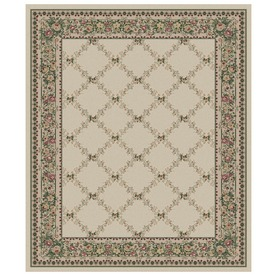 Orian Rugs Inspiration 132-in x 157-in Rectangular Cream/Beige/Almond Floral Area Rug