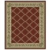 Orian Rugs Inspiration 132-in x 157-in Rectangular Red/Pink Floral Area Rug