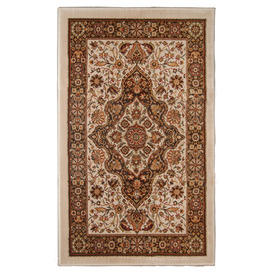 Orian Rugs Shakespeare 23-in x 39-in Rectangular Brown Floral Accent Rug