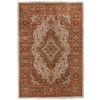 Orian Rugs Shakespeare 63-in x 90-in Rectangular Brown/Tan Floral Area Rug