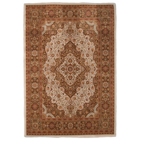 Orian Rugs Shakespeare 94-in x 130-in Rectangular Brown/Tan Floral Area Rug