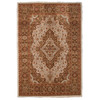 Orian Rugs Medallion Kashan Brown Rectangular Indoor Woven Area Rug (Common: 8 x 11; Actual: 94-in W x 130-in L)