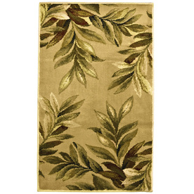 allen + roth Breezy 23-in x 39-in Rectangular Cream/Beige/Almond Floral Accent Rug