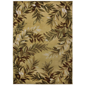 allen + roth Breezy Cream Rectangular Indoor Woven Nature Area Rug (Common: 4 x 6; Actual: 47-in W x 65-in L)