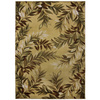 allen + roth Haiku 47-in x 65-in Rectangular Cream/Beige/Almond Floral Area Rug
