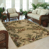 allen + roth Breezy 94-in x 130-in Rectangular Cream/Beige/Almond Floral Area Rug