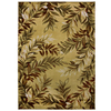 allen + roth Haiku 132-in x 157-in Rectangular Cream/Beige/Almond Floral Area Rug