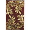 allen + roth Haiku 23-in x 39-in Rectangular Red/Pink Floral Accent Rug