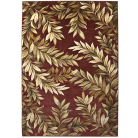 allen + roth Breezy Red Rectangular Indoor Woven Nature Area Rug (Common: 5 x 8; Actual: 63-in W x 90-in L)
