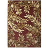 allen + roth Haiku 132-in x 157-in Rectangular Red/Pink Floral Area Rug