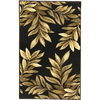 allen + roth Haiku 23-in x 39-in Rectangular Black Floral Accent Rug