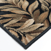 allen + roth Breezy Black Rectangular Indoor Woven Nature Area Rug (Common: 11 x 13; Actual: 132-in W x 157-in L)
