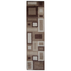 Orian Rugs City Blocks Cream Rectangular Indoor Woven Runner (Common: 2 x 8; Actual: 23-in W x 89-in L)