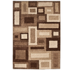 allen + roth Tranquility 63-in x 90-in Rectangular Cream/Beige/Almond Block Area Rug
