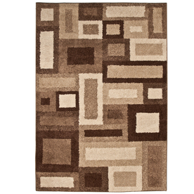 Orian Rugs Tranquility 94-in x 130-in Rectangular Cream/Beige/Almond Block Area Rug