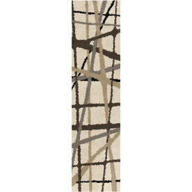 allen + roth Yotta Cream Rectangular Indoor Woven Runner (Common: 2 x 8; Actual: 23-in W x 89-in L)