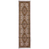 Orian Rugs Medallion Kashan 23-in W x 89-in L Cream/Beige/Almond Runner