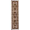Orian Rugs Medallion Kashan Cream Rectangular Indoor Woven Runner (Common: 2 x 8; Actual: 23-in W x 89-in L)