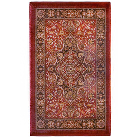 Orian Rugs Medallion Kashan Rectangular Red Floral Woven Accent Rug (Common: 2-ft x 3-ft; Actual: 23-in x 39-in)