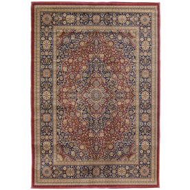 Orian Rugs Medallion Kashan Cream Rectangular Indoor Woven Area Rug (Common: 4 x 6; Actual: 47-in W x 65-in L)