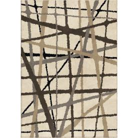 allen + roth Yotta Cream Rectangular Indoor Woven Area Rug (Common: 4 x 6; Actual: 47-in W x 65-in L x 0-ft Dia)