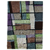 Orian Rugs Shagadelic 94-in x 120-in Rectangular Blue Geometric Area Rug