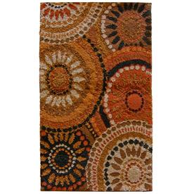 Orian Rugs Merrifield Orange Rectangular Indoor Woven Throw Rug (Common: 2 x 3; Actual: 23-in W x 39-in L)