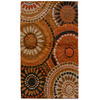 Orian Rugs Merrifield Orange Rectangular Indoor Woven Throw Rug (Common: 2 x 3; Actual: 23-in W x 39-in L)