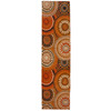 Orian Rugs Illusions Wild 23-in W x 89-in L Orange/Peach/Apricot Runner