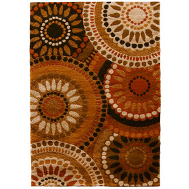Orian Rugs Merrifield Orange Rectangular Indoor Woven Area Rug (Common: 5 x 8; Actual: 63-in W x 90-in L)
