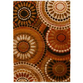 Orian Rugs Merrifield Orange Rectangular Indoor Woven Area Rug (Common: 8 x 10; Actual: 94-in W x 120-in L)