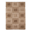 allen + roth Big City 63-in x 90-in Rectangular Cream/Beige/Almond Block Area Rug