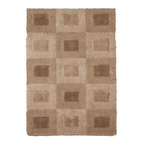 allen + roth Big City 94-in x 120-in Rectangular Cream/Beige/Almond Block Area Rug