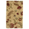 allen + roth Cliffony Bisque 23-in x 39-in Rectangular Beige Floral Accent Rug