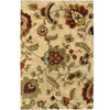 allen + roth Carolina Wild 3-ft 11-in x 5-ft 5 5-in Rectangular Cream/Beige/Almond Floral Area Rug