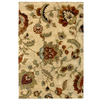 allen + roth Carolina Wild 5-ft 3-in x 7-ft 6-in Rectangular Cream/Beige/Almond Floral Area Rug