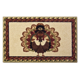 Orian Rugs Gobble Multicolor Rectangular Indoor Woven Holiday Throw Rug (Common: 2 x 3; Actual: 23-in W x 39-in L)