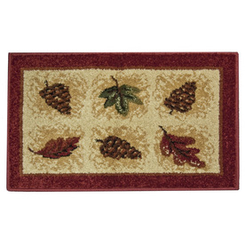 Orian Rugs Plaid Pine Cones Multicolor Rectangular Indoor Woven Holiday Throw Rug (Common: 2 x 3; Actual: 23-in W x 39-in L)