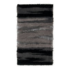 Orian Rugs Kyoto Black Rectangular Indoor Woven Throw Rug (Common: 2 x 3; Actual: 23-in W x 39-in L)