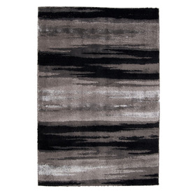 Orian Rugs Kyoto Black Rectangular Indoor Woven Area Rug (Common: 8 x 10; Actual: 94-in W x 120-in L)