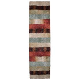 Orian Rugs Fading Panel Multicolor Rectangular Indoor Woven Runner (Common: 2 x 8; Actual: 23-in W x 89-in L)