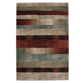 Orian Rugs Carolina Wild 63-in x 90-in Rectangular Brown/Tan Transitional Area Rug