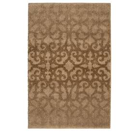 allen + roth Bastille Bisque Rectangular Indoor Woven Area Rug (Common: 5 x 8; Actual: 63-in W x 90-in L)