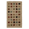 Orian Rugs Supershag 23-in x 39-in Rectangular Beige Block Accent Rug