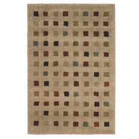 Orian Rugs Uptown Bisque Rectangular Indoor Woven Area Rug (Common: 5 x 8; Actual: 63-in W x 90-in L)